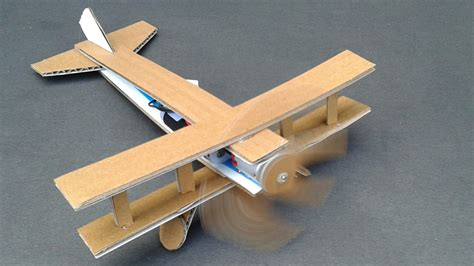 How To Make A Model Airplane Out Of Paper - how to make a plane using dc motor cardboard