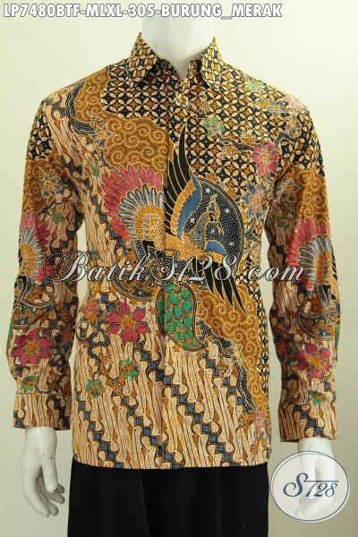Batik Wajo M Xl produk pakaian batik motif burung merah hem batik