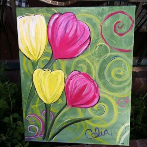 acrylic painting ideas flowers easy paintings for beginners on canvas flowers www