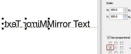 vertical text in coreldraw x4 figure 8 here our text has been mirrored and duplicated