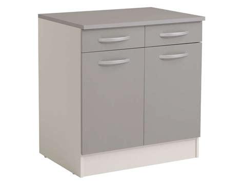 meuble bas cuisine 80 cm meuble bas 80 cm 2 portes 2 tiroirs spoon color coloris