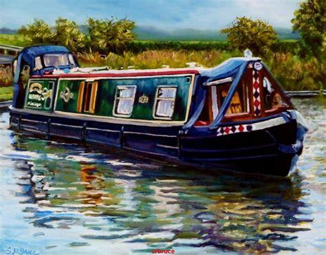 canal boat canal boat steven robert bruce blackpool artist in oils