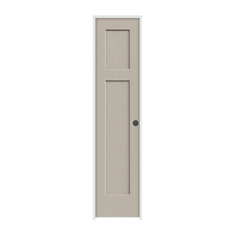 16 Interior Door Krosswood Doors 18 In X 80 In Craftsman Shaker Knotty Alder 3 Panel Solid Wood Left
