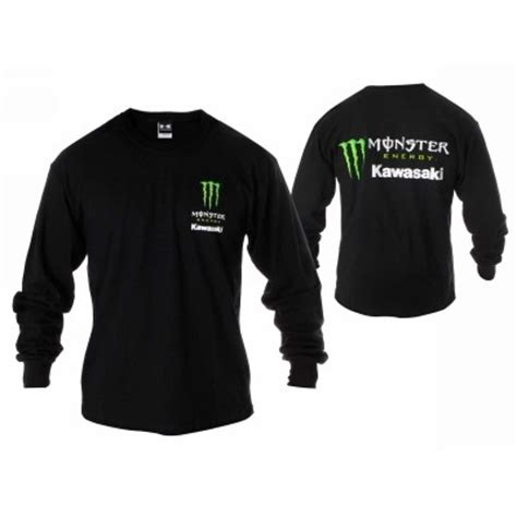Energy Kawasaki Gear by Energy Kawasaki Sleeve Shirt Black Large
