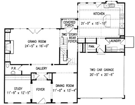 Cottage Plans With Garage by Colonial Style House Plan 4 Beds 3 5 Baths 2936 Sq Ft