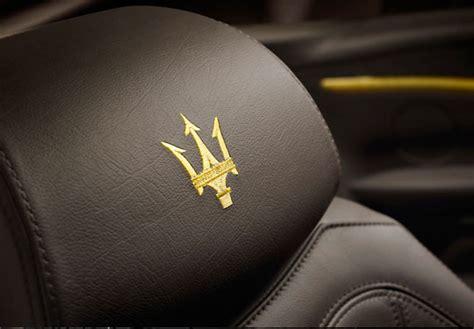 gold maserati logo maserati grancabrio fendi pursuitist