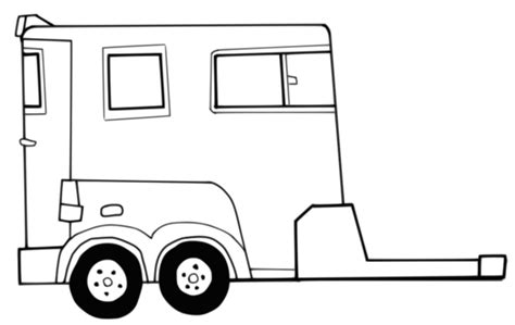 coloring pages horse trailer horse trailer pages coloring pages