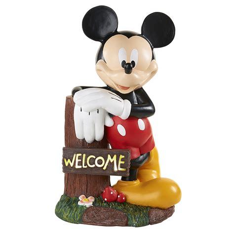 disney mickey mouse welcome solar statue limited availability shop your way shopping