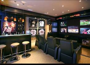 Football Stadium Wallpaper For Bedrooms Man Cave Living Room Design Newhairstylesformen2014 Com