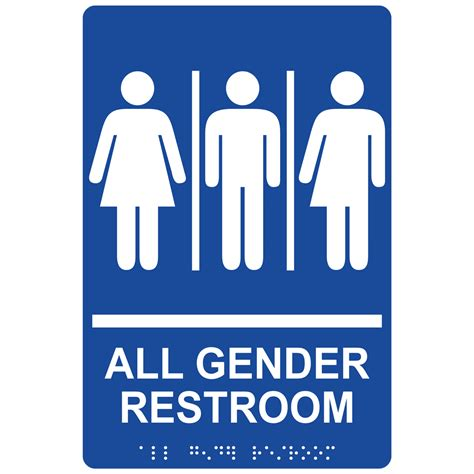 gender bathroom signs ada all gender restroom sign rre 25413 whtonblu gender neutral