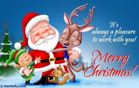pleasure working working with you christmas ecard cute