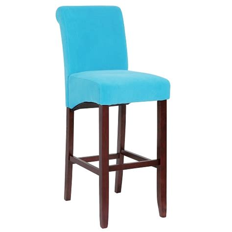 Teal Fabric Bar Stools by Monte Carlo High Bar Chair In Teal Fabric With Wenge Legs