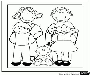 family portrait coloring page family coloring pages printable games