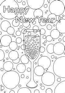 Happy New year - Coloring Pages for Adults