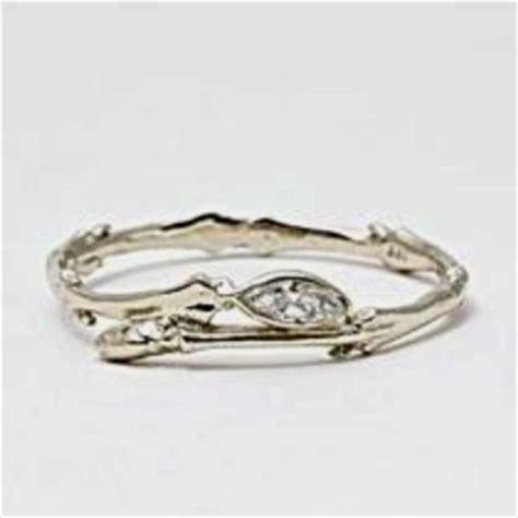 tree branch engagement ring wedding