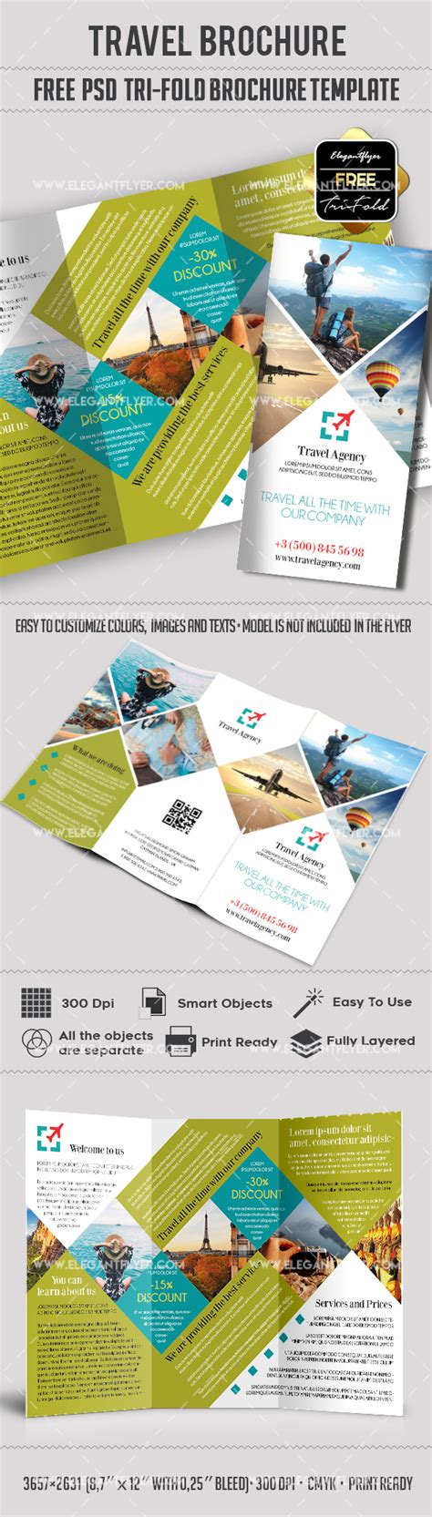 3d Brochure Templates Psd by Travel Free Psd Tri Fold Psd Brochure Template By