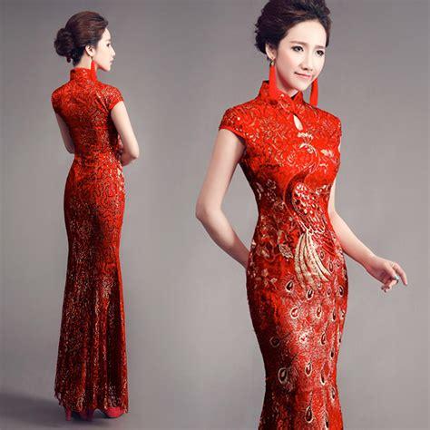 Id Floral Cheongsam Lace Dress cheongsam busana tradisional perempuan tionghoa victory