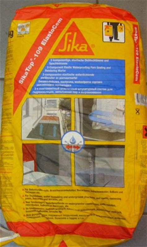 Sika Top 107 Seal Set 25 Kg 20kg Cairan 5kg sika minipack waterproofing m luciano