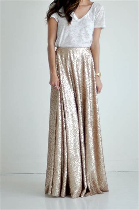 25 best ideas about sequin maxi skirts on