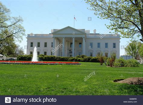 which state is the white house in the white house residence of the president of the united states of stock photo