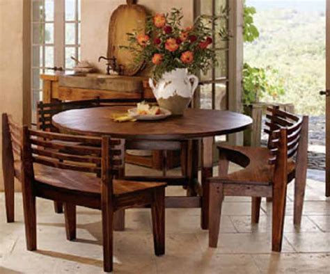 dining set with benches round dining room table sets with benches http