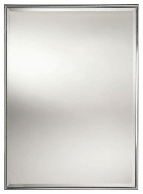 nickel framed bathroom mirror essentials rectangular framed mirror with bevel polished
