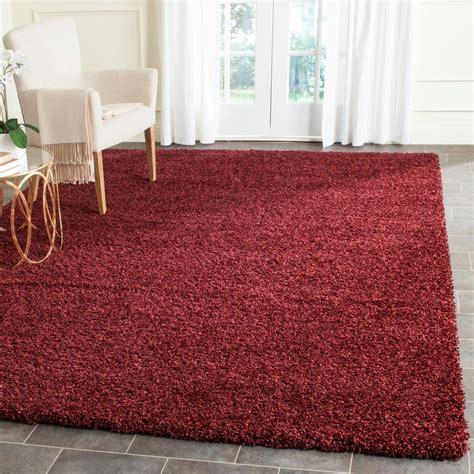 maroon shag safavieh santa shag maroon 8 ft x 10 ft area rug