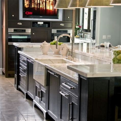 2 level kitchen island dark rich wood two level kitchen islands design