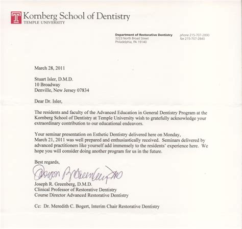 Temple Acceptance Letter Of Medicine And Dentistry Of New Jersey Rachael Edwards