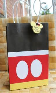 mickey mouse favor bags mickey mouse favor bag goodie bag by paperlettedesigns