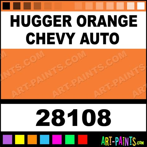 hugger orange chevy auto model master acrylic paints 28108 hugger orange chevy auto paint