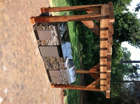 pergola outdoor kitchen kitchens fireplaces quality creative landscaping llc