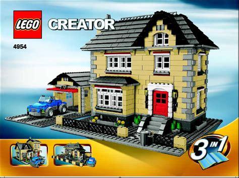 build house online lego villa instructions 4954 creator