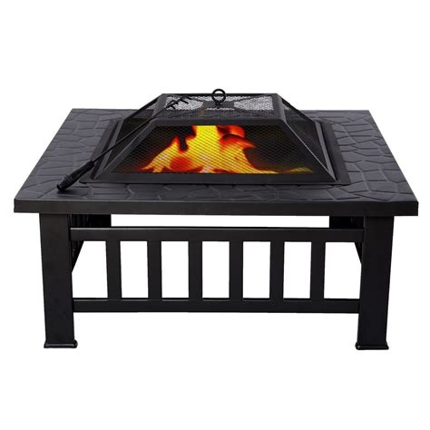 square metal pit insert square metal 32 quot outdoor stove bbq pit patio