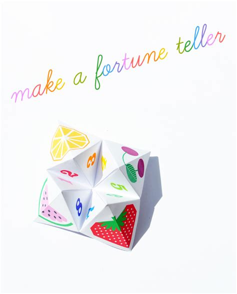 How To Make A Chatterbox Out Of Paper - fortune teller printable make your own chatterbox