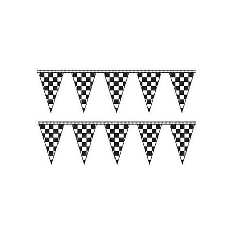 checkered triangle pennants