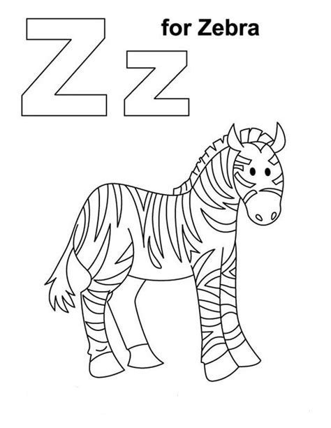 For Zebra Coloring Page  Download &amp Print Online Pages sketch template
