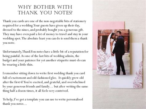 thank you cards for wedding gift but did not attend how to word your wedding thank you notes