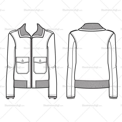 bomber jacket design template women s bomber jacket fashion flat template illustrator
