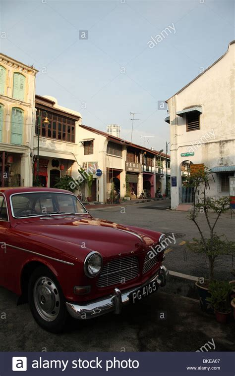 classic volvo amazon  lebuh armenian georgetown penang malaysia stock photo  alamy