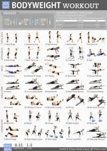 exercises at home fitwirr bodyweight exercises poster for a 19x27