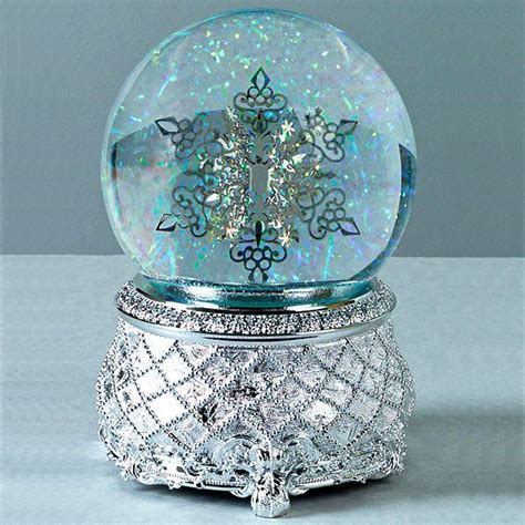 beautiful snow globes snow flake snowflakes