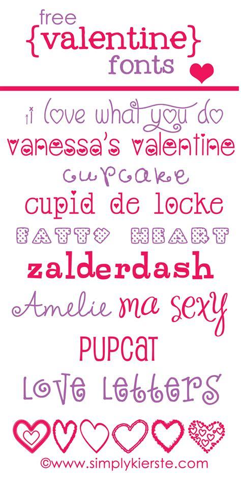 free valentines fonts free fonts www simplykierste