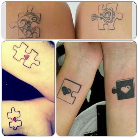 couple tattoo bad luck puzzle couples tattoo ideas this is a cute idea good
