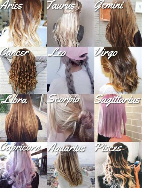 Hairstyles Zodiac Signs | posts signs and 12 zodiac signs on pinterest