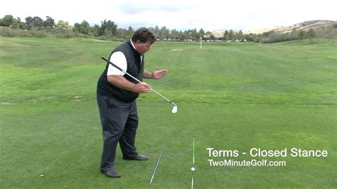 closed stance golf swing golf terms closed stance youtube