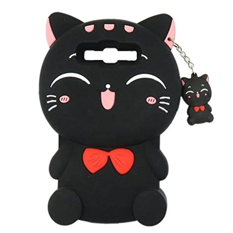 Samsung J5 Prime 3d Bowknot Lucky Cat Silicone Reo S samsung galaxy grand prime g530 maoerdo 3d black plutus cat lucky fortune cat