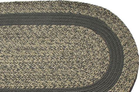 Gray Braided Rug oatmeal gray gray band braided rug
