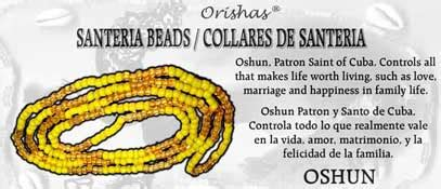 santeria color meanings santeria bead necklace oshun honey and yellow