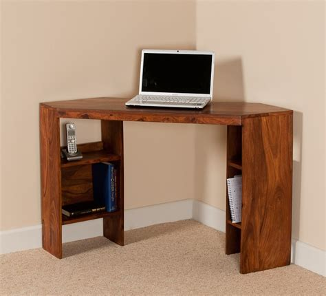 Small Computer Desk Corner Small Computer Desk Corner Unit Sheesham Wood Casa Furniture Uk